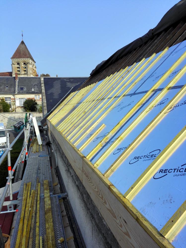 Couvreur Soissons : Isolation par l'extérieur à Berzy Le Sec